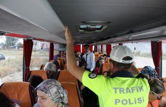 Otobüsler denetlendi