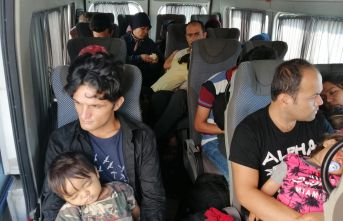 43 düzensiz göçmen yakalandı