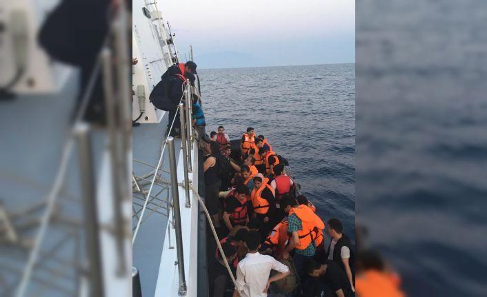 37 düzensiz göçmen yakalandı