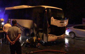 Minibüste yangın çıktı!