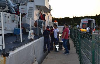 Sahil Güvenlik'ten tıbbı tahliye