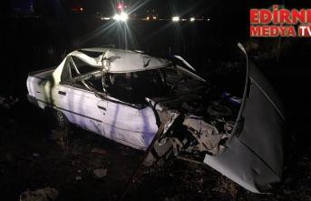 Traktöre çarptı 2 kişi yaralandı!
