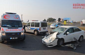 Kazada 1 kişi yaralandı
