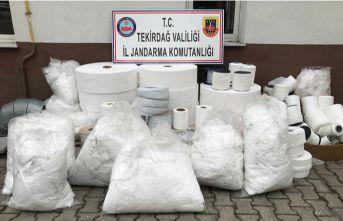 15 bin kaçak maske yakalandı
