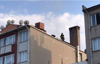 Bacadaki yangın çatıya sıçradı