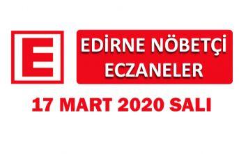 Edirne Nöbetçi Eczaneler 17 Mart 2020