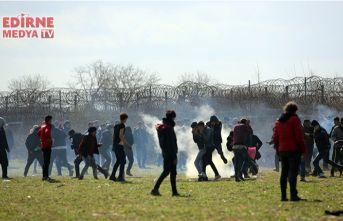 Sığınmacılara biber gazıyla müdahale!