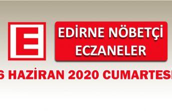 Edirne Nöbetçi Eczaneler 6 Haziran Cumartesi