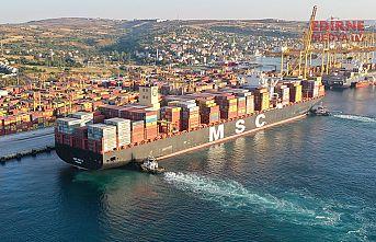 Dev gemi MSC Maya Tekirdağ'da