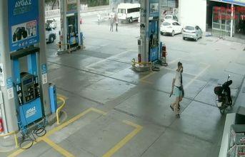 Hırsızlık güvenlik kamerasında