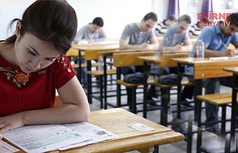 Sınav öncesi uyarı
