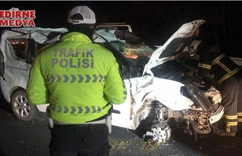Feci kazada 1 kişi öldü, 1 kişi ağır yaralandı