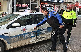 Polis aracını bu hale getirdi