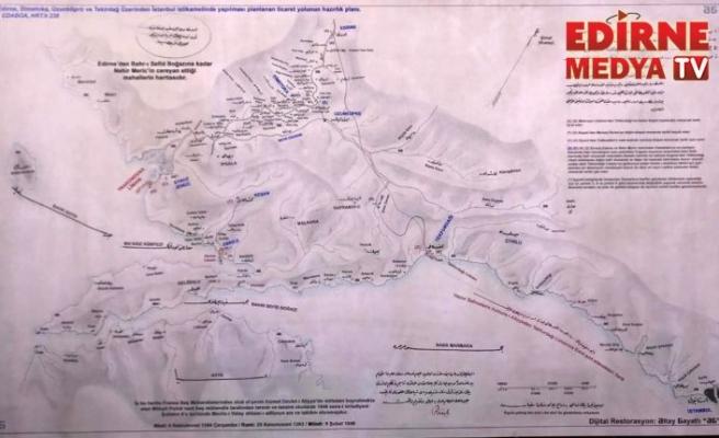 Abdülhamid'in çizdirdiği haritaya yoğun ilgi