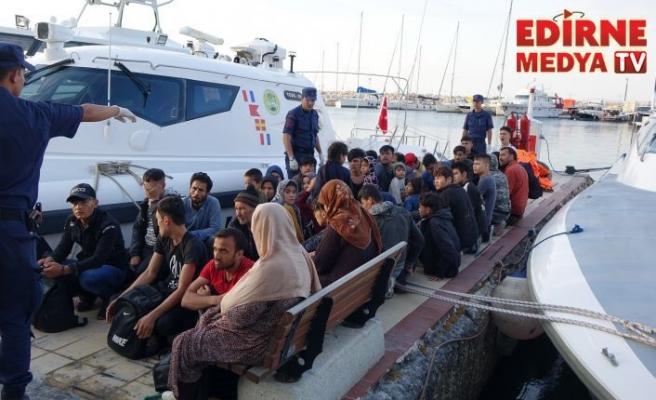Denizde 46 kaçak yakalandı