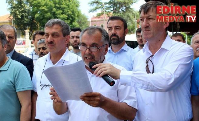 Eski Cami önünde protesto ettiler