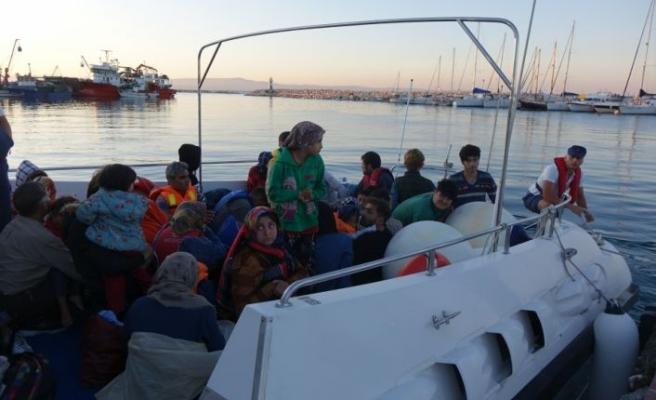 44 düzensiz göçmen yakalandı