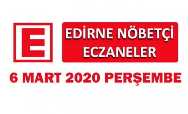 Edirne Nöbetçi Eczaneler 6 Mart 2020 Cuma