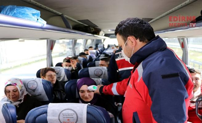 Edirne'ye gelenlere ateş kontrolü
