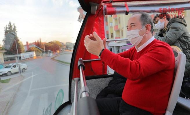 Başkan Gürkan kime teşekkür etti?