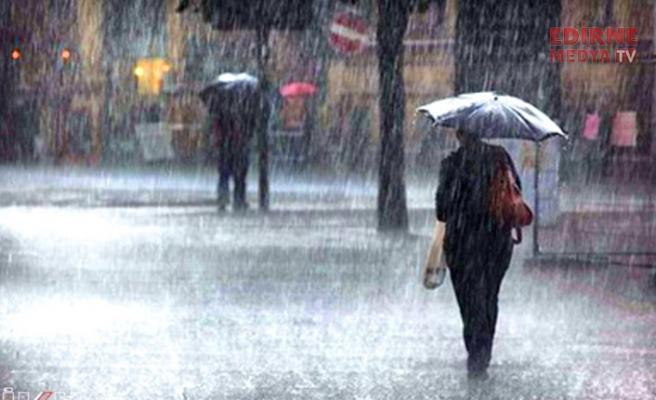 Edirne için kuvvetli yağış uyarısı