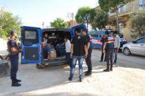 9 düzensiz göçmen yakalandı