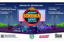 Edirne'de arabalı sinema keyfi