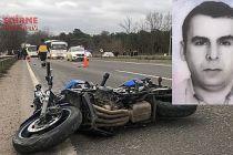 Motosikletin sürücüsü öldü, çarptığı kişi ağır yaralandı