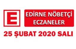 Edirne Nöbetçi Eczaneler 25 Şubat 2020 Salı