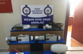 Edirne'de kaçak Bitcoin düzeneği yakalandı