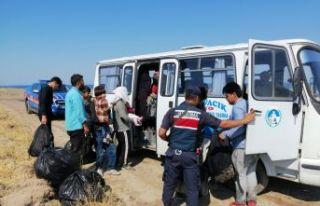 73 düzensiz göçmen yakalandı
