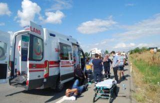 Feci kazada 6 kişi yaralandı