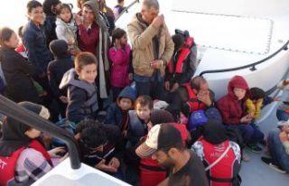 112 düzensiz göçmen yakalandı
