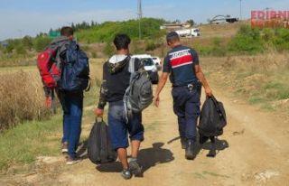 40 düzensiz göçmen yakalandı