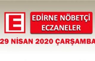 Edirne Nöbetçi Eczaneler 29 Nisan 2020 Çarşamba