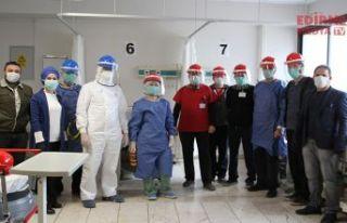 Koruyucu maskeler teslim edildi