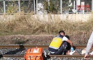 Tren çarptı