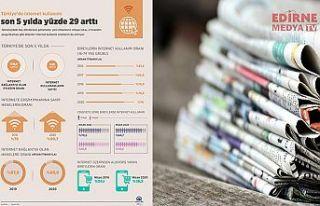 İnternet kullanımı artıyor, yazılı basın çöküyor