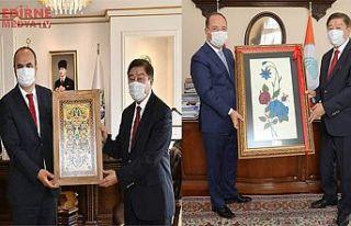 Vali Canalp ve Başkan Gürkan'ı ziyaret etti.