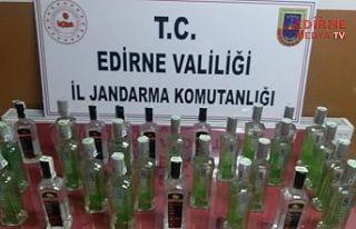 30 litre kaçak içki ele geçirildi