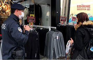 Polisten maske uyarısı