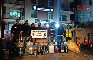 619 litre kaçak içki ele geçirildi