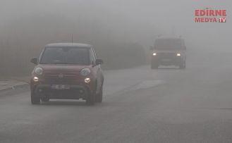 Edirne'de sis etkili oldu
