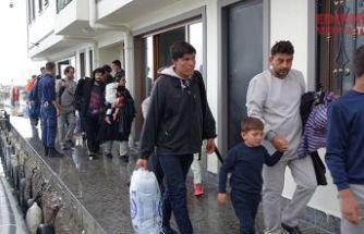 105 kaçak göçmen yakalandı