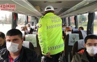 Şehirler arası otobüsler denetleniyor
