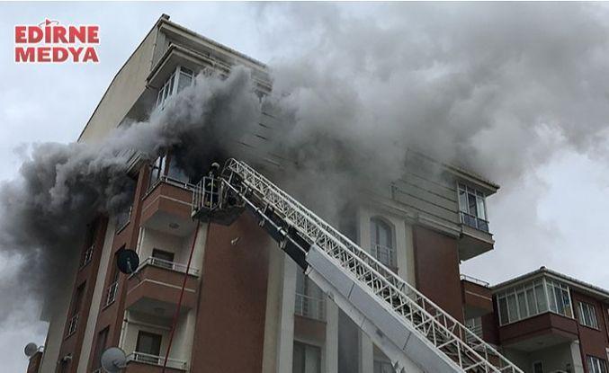 Edirne'de korkutan yangın!