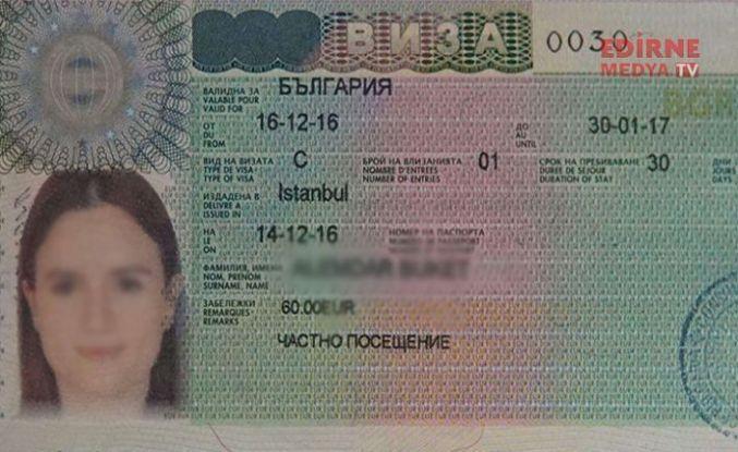 Bulgaristan vizesi zamlandı