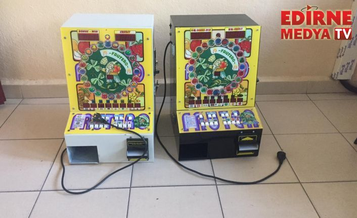 2 kumar makinesi ele geçirildi